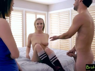 Bratty Sis – step Sister And BFF Fall For step Brothers Sex Games