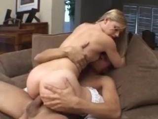 Teen blond dressed in red anal fucked