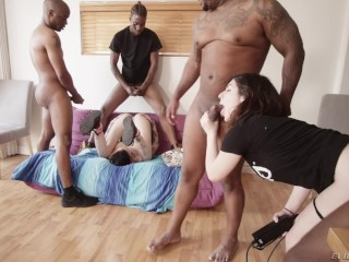 Interracial Gangbang tryouts – the scene footage