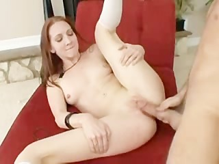 Sexy red head fucked all over