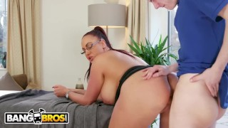 BANGBROS – Big Tits British Cougar Emma Butt Demands Massage From Step Son